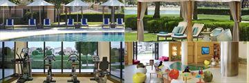Pool, gym and kids club at Ritz Carlton Abu Dhabi