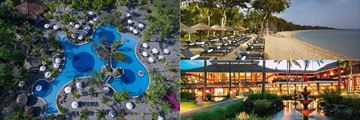 Melia Bali pool, beach and gardens