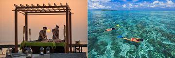 Spa treatments and water sports at Kurumba