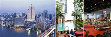 Tower Club at lebua, View of Hotel at Twilight, Pool and Fitness Centre