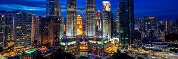 Panoramic View of The Skybar and Traders Hotel Kuala Lumpur