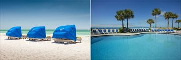 Tradewinds Island Grand Resort, Beach Cabanas and Pool