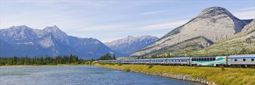 Luxury rail journeys in Jasper National Park