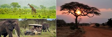 Tsavo National Park landscapes and Game Drive