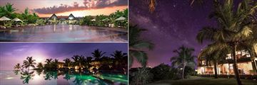 Uga Bay, Pool at Dusk, Villas Under the Stars and Pool at Moonrise