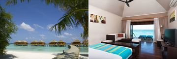 Veligandu Island Resort & Spa, Jacuzzi Water Villas and Water Villa Interior