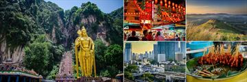 Villa Samadhi, (clockwise from left): Travels with Samadhi Daytrips - Batu Caves, Evening Food Tour, Broga Hill Heritage, Food Tour and City Tour