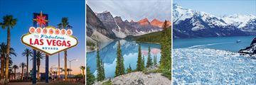 Las Vegas, Banff & Glacier Bay