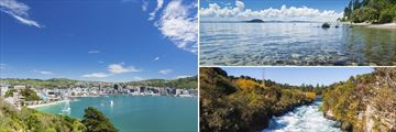 Wellington City Bay and Harbour, Lake Taupo & Huka Falls