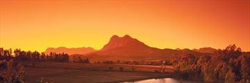 Sunset over Western Cape