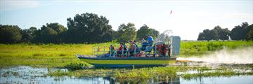 Airboat rides through the everglades in Kissimmee