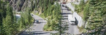 Driving through Yoho National Park, British Columbia