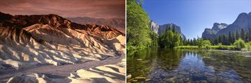 Zabirskie Point, Death Valley & El Capitan, Yosemite