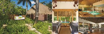 Spa Relaxation Garden, Spa Massage Cabin, Spa Hydrotherapy Circuit and Fitness Centre at Zoetry Agua Punta Cana