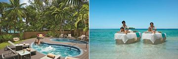Zoetry Montego Bay, Outdoor Spa Jacuzzis and Massages in the Sea