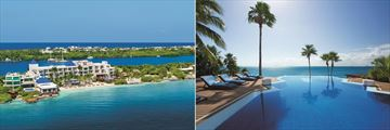 Zoetry Villa Rolandi Isla Mujeres Cancun, Aerial View of Resort and Infinity Pool