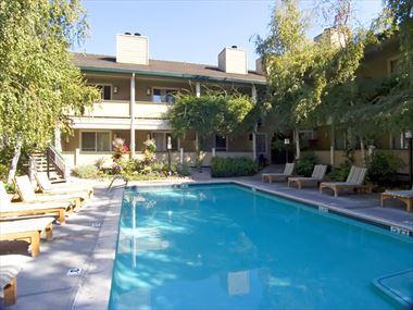 Garden courtyard pool