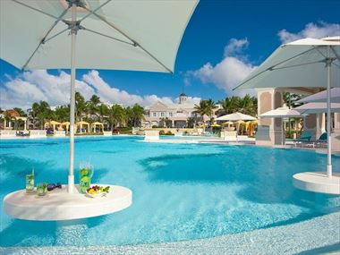 The pool at Sandals Emerald Bay
