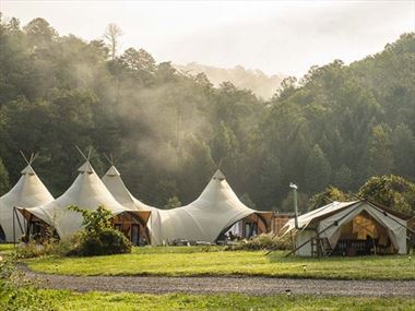 Under Canvas Great Smoky Mountain Glamping