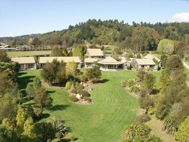 Aerial view of Abel Tasman Marahau Lodge
