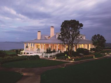 Exterior view of Kauri Cliffs