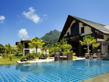 The H Resort Beau Vallon entrance