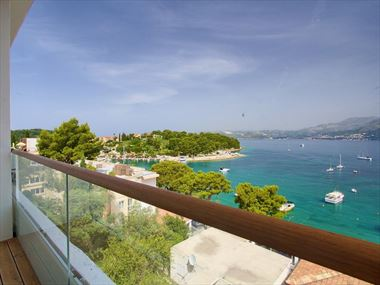 Balcony view at Hotel Cavtat