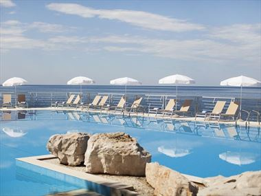 The pool at Hotel Dubrovnik Palace