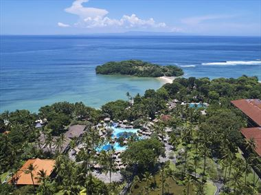 Aerial view of Melia Bali