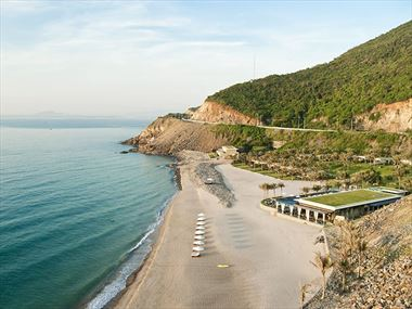 The beach at Mia Resort, Nha Trang