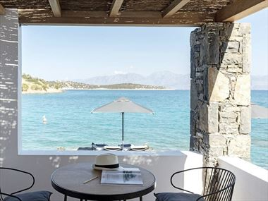 Waterfront Bungalow at Minos Beach Art Hotel