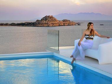 The pool at Petasos Beach Resort