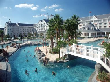 Pool area at Disney's Yacht & Beach Club Resort