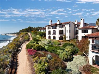 The coastline at Ritz Carlton Bacara, Santa Barbara