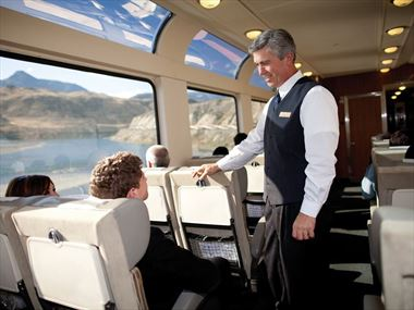 Experience a trip on board the Rocky Mountaineer