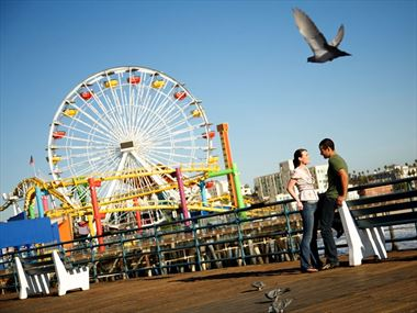 Santa Monica beach holidays