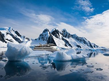 The ultimate adventure through Antarctica aboard the new ground-breaking Greg Mortimer ship