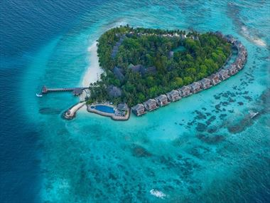 Aerial view of Taj Coral Reef Resort & Spa
