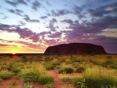Watch the sunrise over Uluru