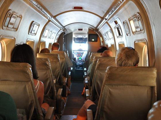 Inside a typical Beechcraft Execliner