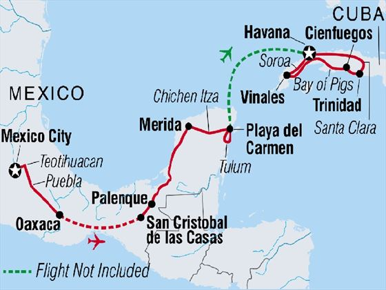 Best of Mexico and Cuba 22-day tour