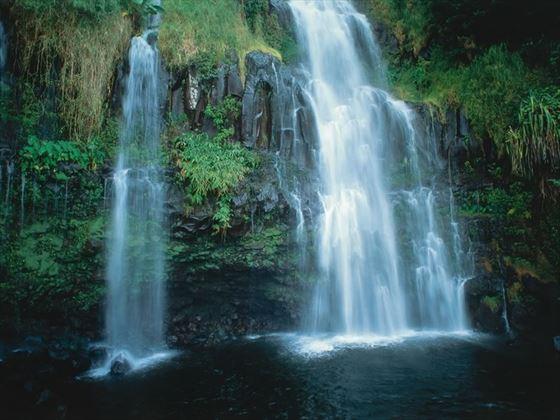 Blue Pools waterfall, Maui, Hawaii