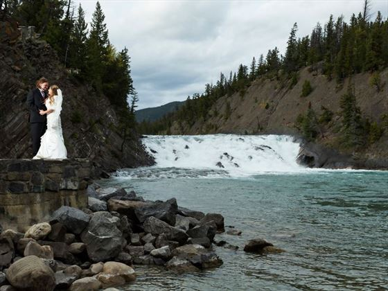 The picturesque Bow Falls