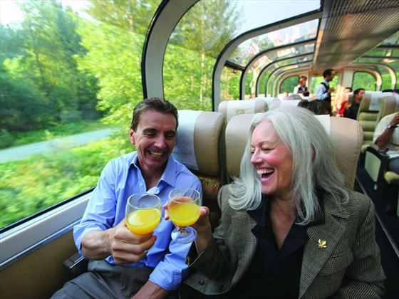 Cheers! GoldLeaf Service, Rocky Mountaineer