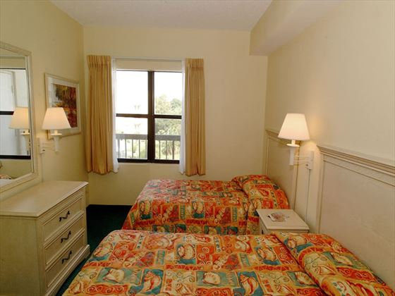 Double guestroom at Enclave Suites, Orlando