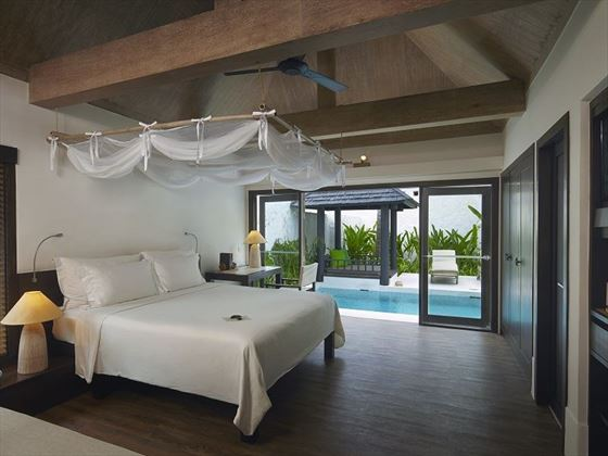 Evason Pool Villa Bedroom