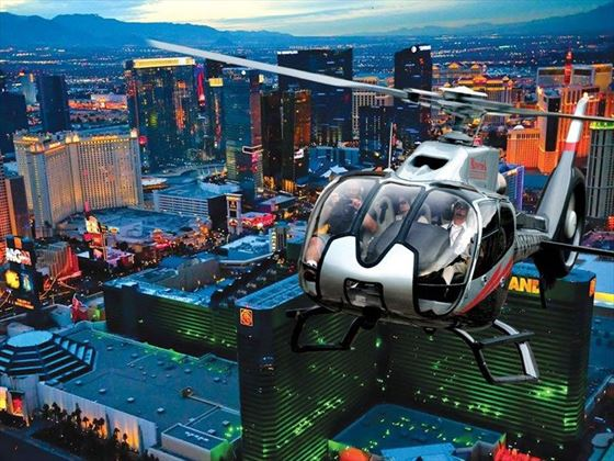 Helicopter over The Strip