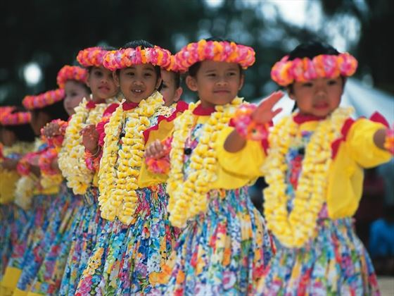 Hula dancers, Hawaii