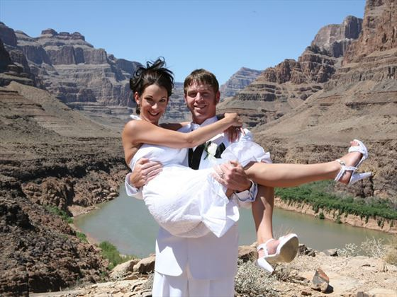 Wedding couple, Grand Canyon