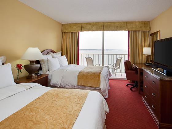 Double double Bay view suite bedroom
